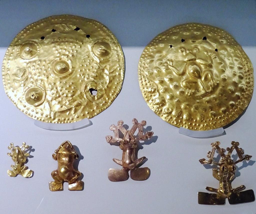 Discos o Patenas Museo Oro Precolombino Banco Central San José de Costa Rica 29