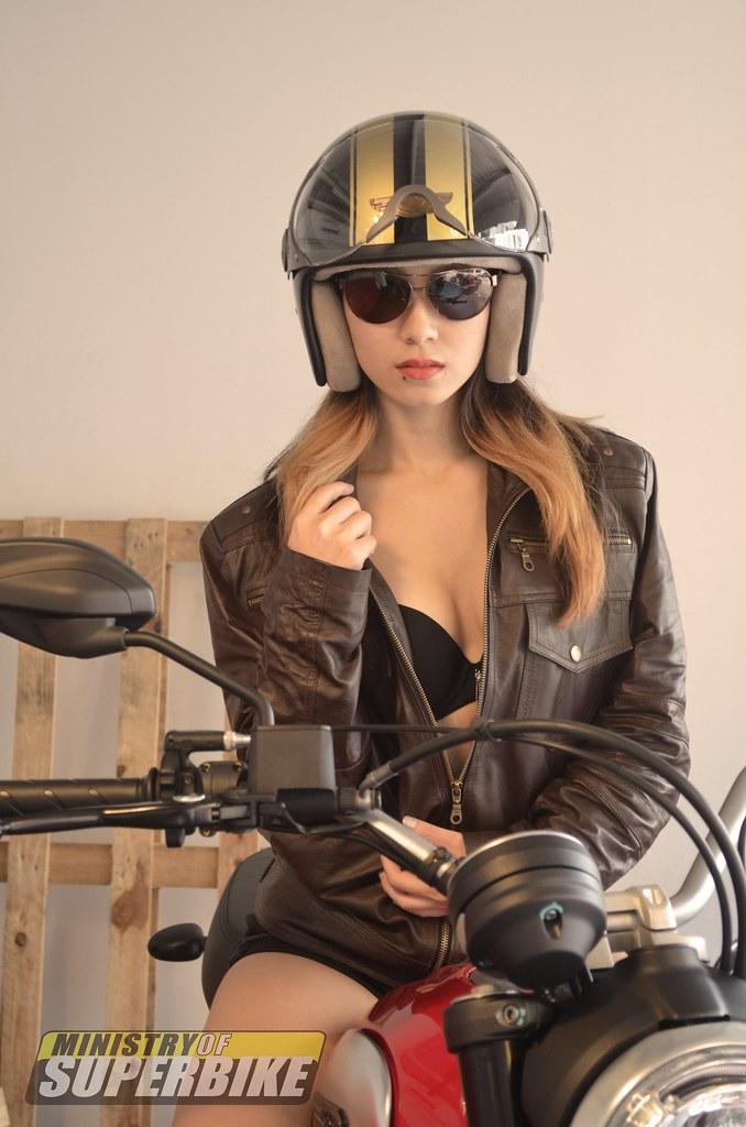 Tammy with the Ducati Scrambler Icon