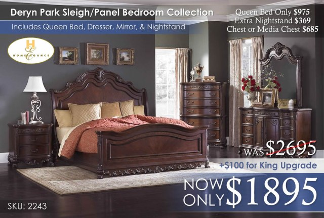 Deryn Sleigh Panel Bedroom Collection 2243