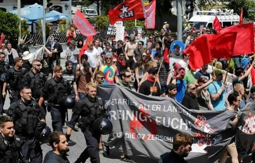 Marcha contra G7 en Alemania deriva en enfrentamiento