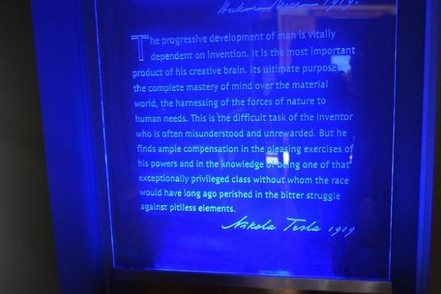 Tesla Museum Plaque