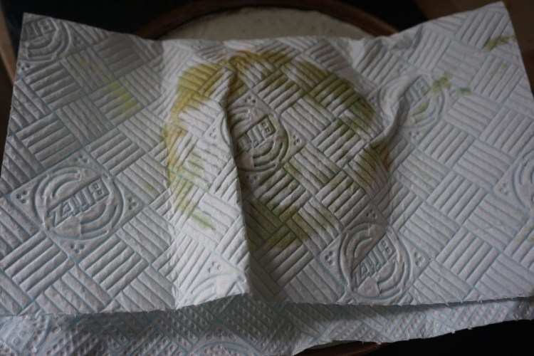 Gluten free hot pocket arepas wrapped in kitchen towel