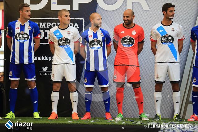 Presentación Equipaciones R.C.Deportivo 15-16