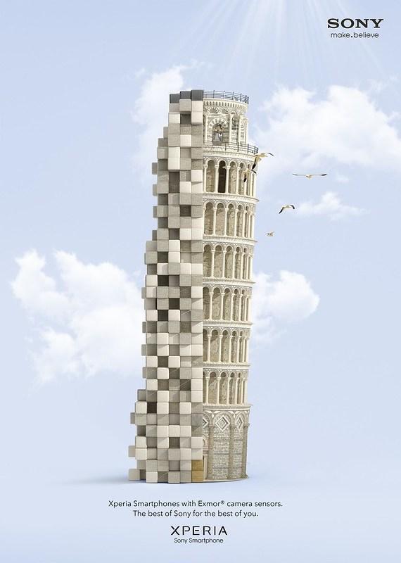 Sony Xperia - Pixelated Pisa