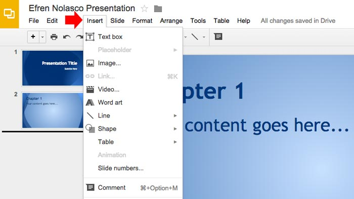 How to create powerpoint presentation step 8