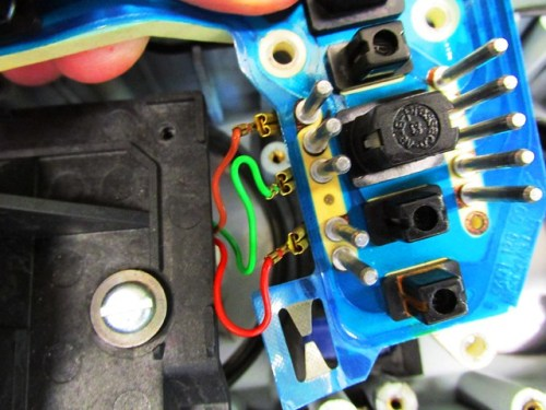 Instrument Pod-Close up of Electronic Tachometer Wires