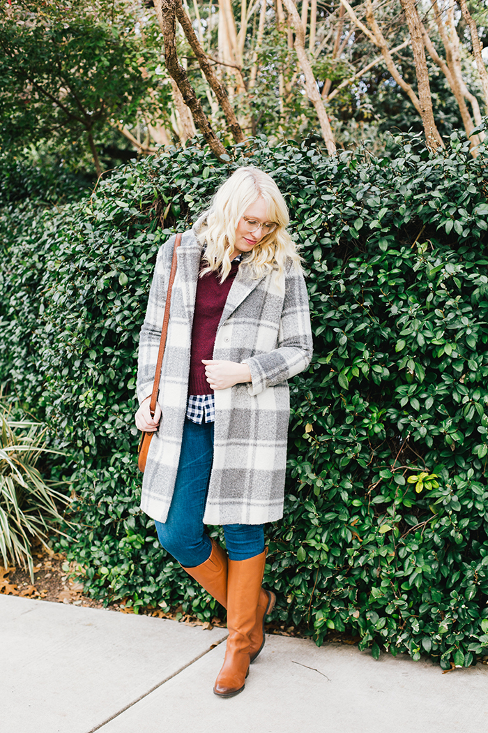 austin style blogger gingham winter outfit2