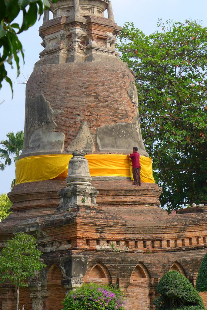 Thaïlande - Ayutthaya - 185 - Wat Yai Chai Mongkhon