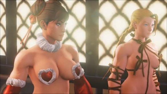 Street Fighter 5 Chun Li Cammy Christmas Mod