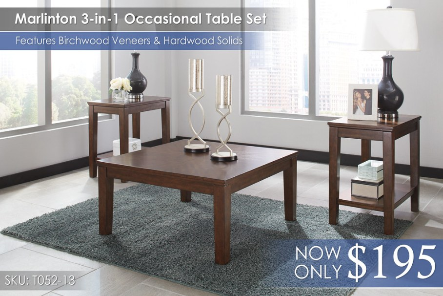 Marlinton Occasional Table Set T052-13