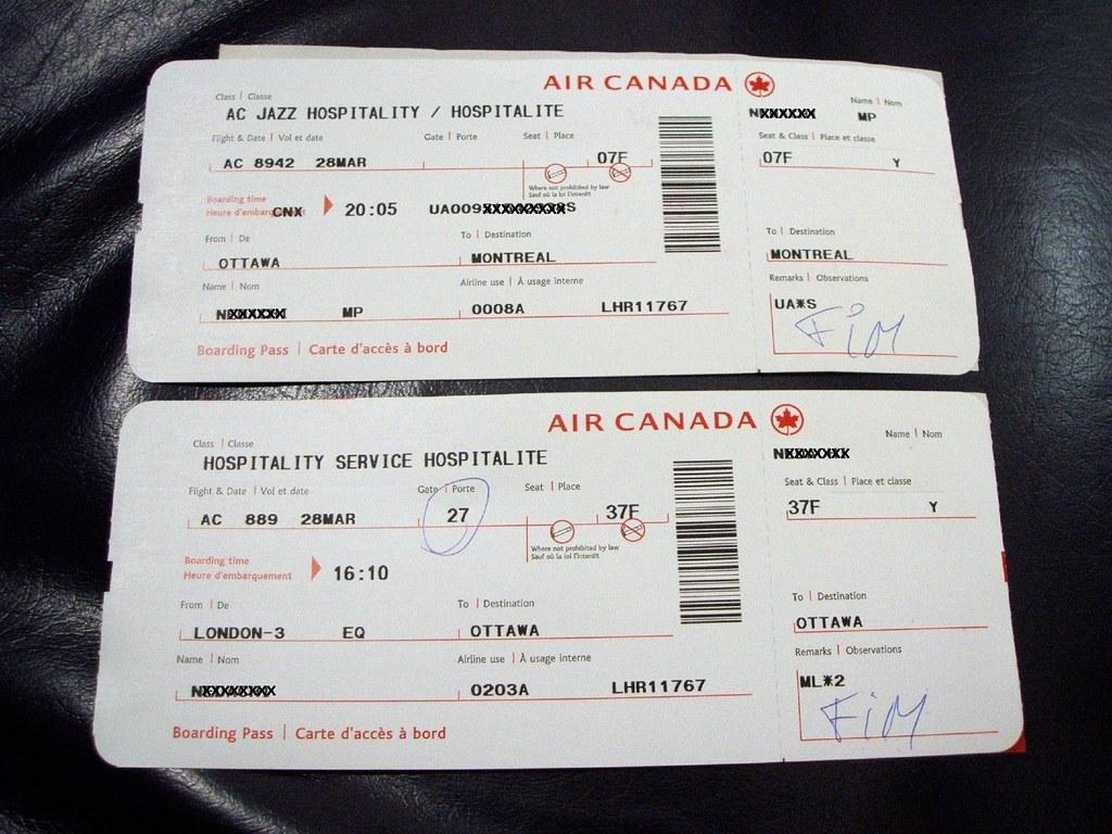 Air Canada Boarding Pass