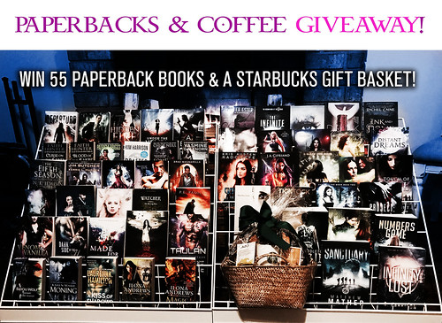 Win 55 Paperback #Books and a #Starbucks Gift Basket in this BOOKS & #COFFEE #Giveaway! PaperBacksAndCoffee