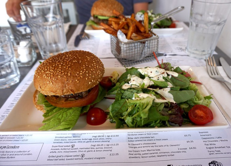 Gluten free beef burger from Niche in Angel, Islington, London