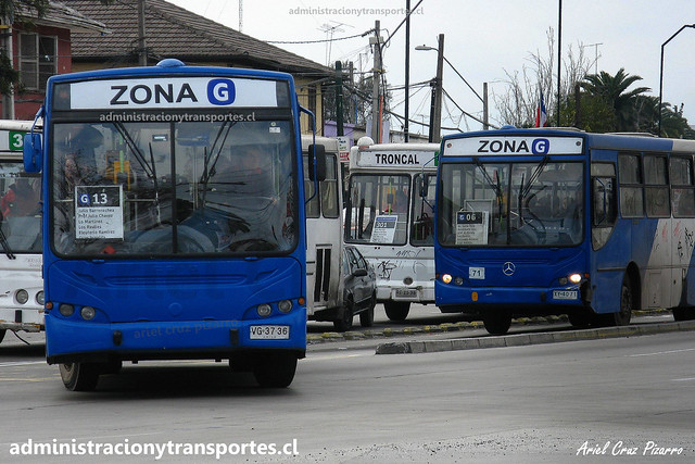 Transantiago G13 | BGS | Caio Apache S21 - Mercedes Benz / VG3736