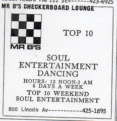 207 Mr. B's Checkerboard Lounge