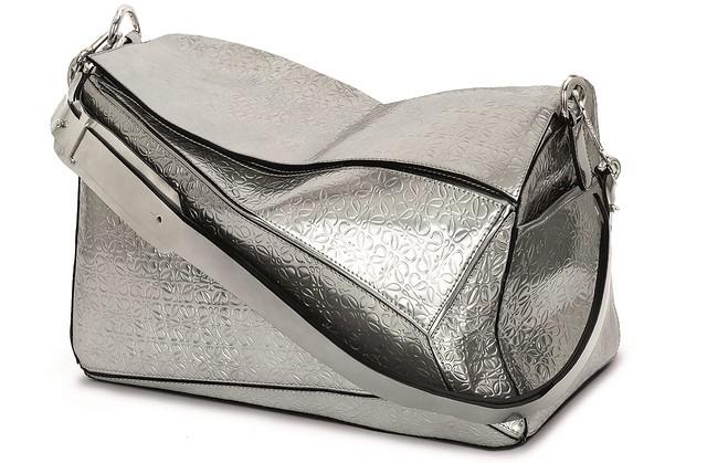 Silver repeat anagram Puzzle bag