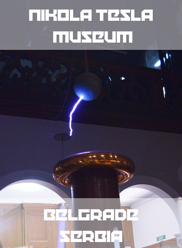 Nikola Tesla Museum Belgrade Serbia, Tesla Coil Lightning