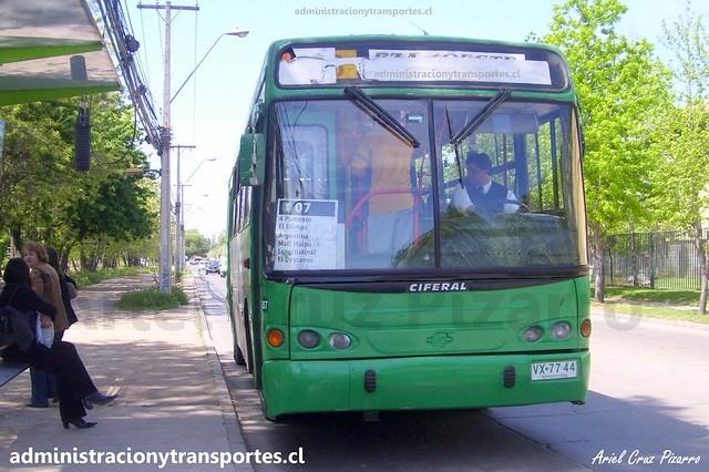 Transantiago I07 | CNM | Ciferal Turquesa - Mercedes Benz / VX7744