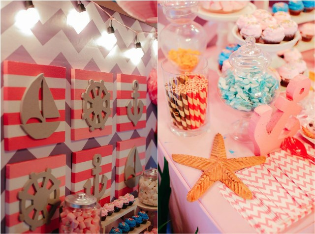 blaise u2019s pink nautical themed party - 1st birthday
