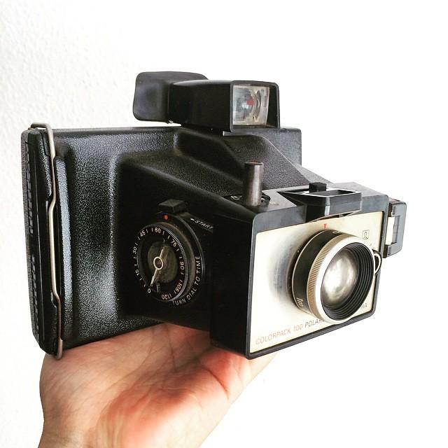 Plastic fantastic: Polaroid Colorpack 100 packfilm camera