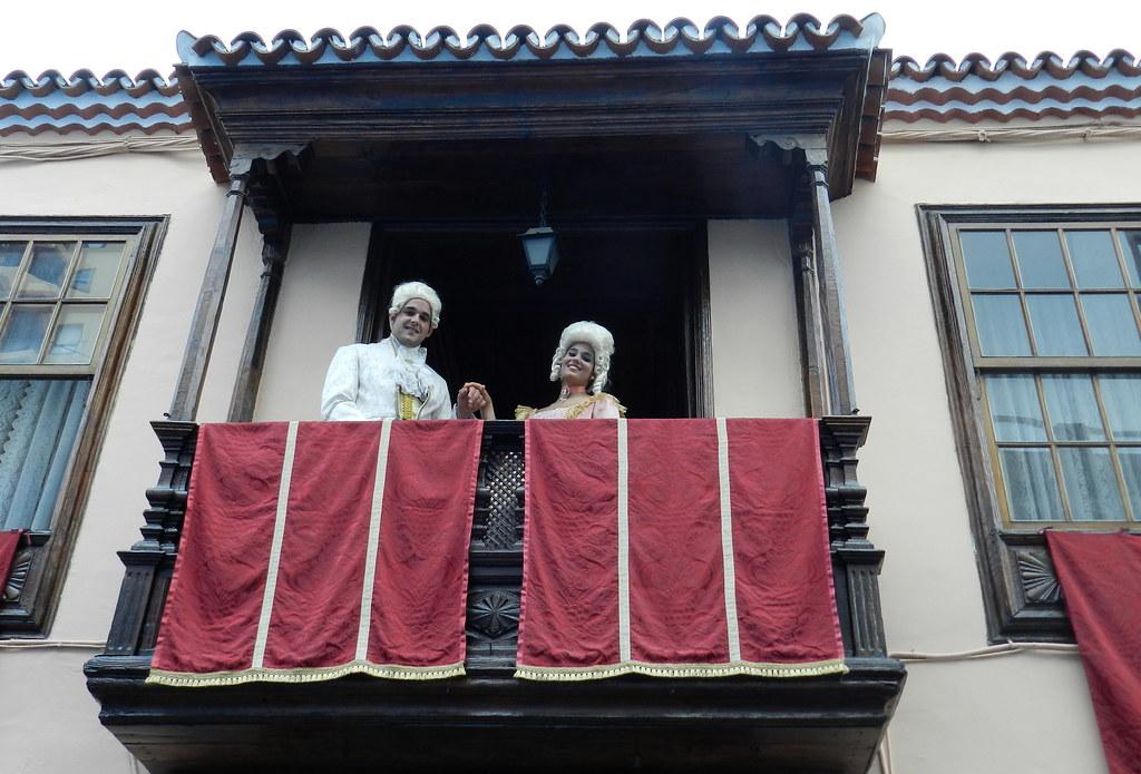 Escenografia en la calle del baile del Minué Fiestas Lustrales Santa Cruz de la Palma 2015 07