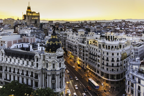 About Madrid and Barcelona, Spain