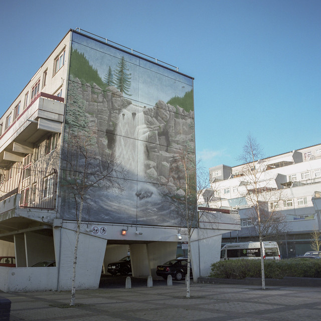 Bernette Hall and Donald Taylor, Waterfall Mural, 1991