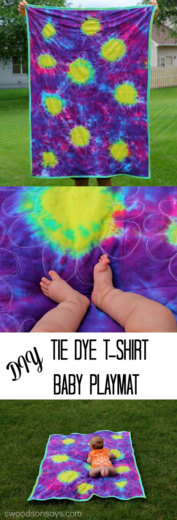 Tie Dye Baby Playmat from Swoodson Says