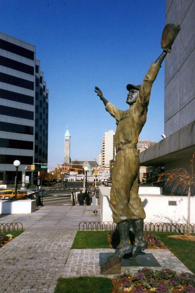 Nj Jersey City Journal Square Jackie Robinson Statue