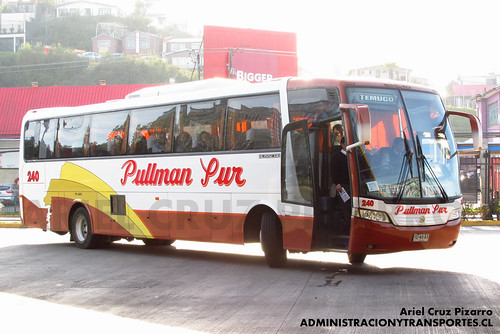 Pullman Sur - Puerto Montt - Busscar Vissta Buss LO / Scania (YE4843)