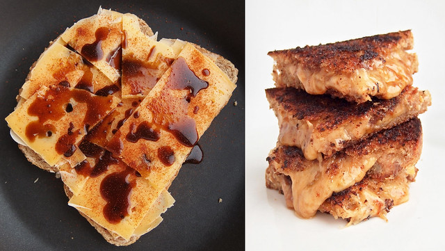 Welsh-Rarebit-achtige Tosti