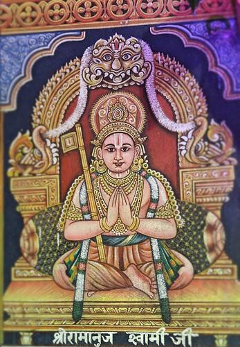Painting of Shri Ramanuja on the wall at Shri Jeeyar Swami Math premises, Jagannath Puri , Odisha