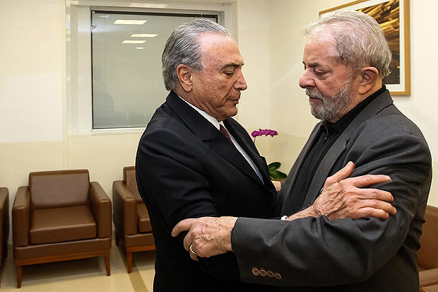 Morte de Marisa ergue ponte entre Lula e Michel Temer, Lula e Michel Temer