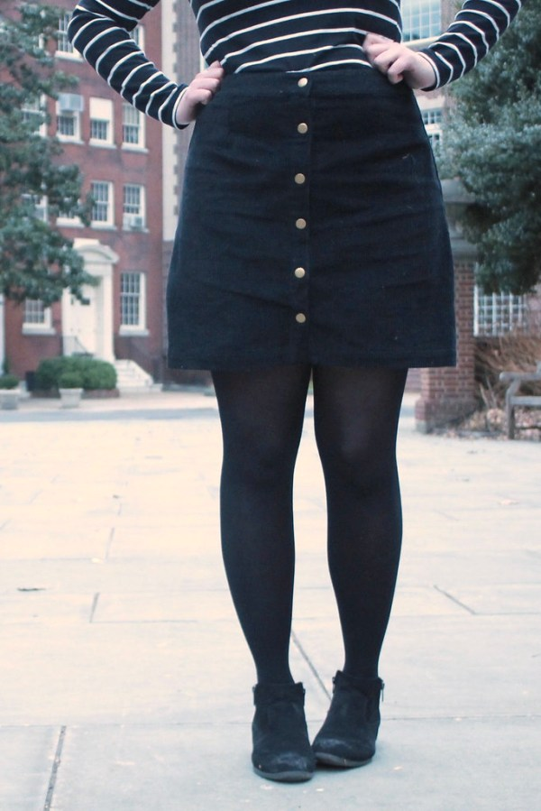 Button Front Skirt | Shades of Sarah