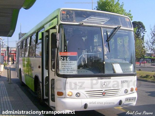 Transantiago 216   Subus   Marcopolo Torino - Mercedes Benz / UK8061