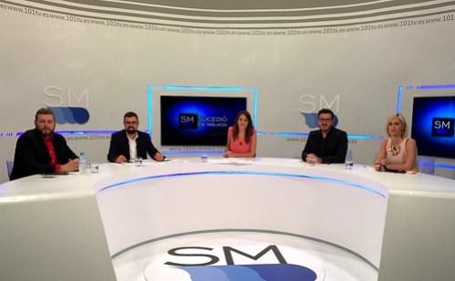 En las televisiones malagueñas hablando de las elecciones municipales.