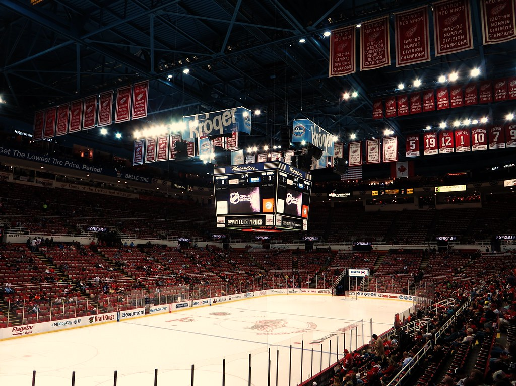 Detroit Red Wings Retired Numbers And Championship Banners