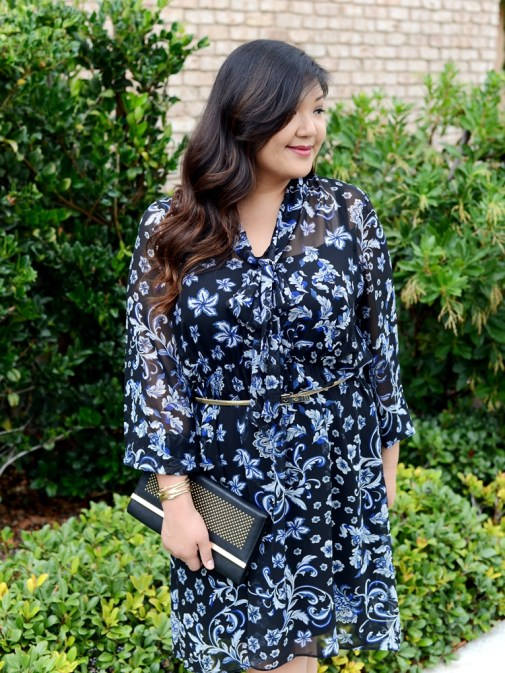 Curvy Girl Chic Dressbarn Roz and Ali Floral Dress