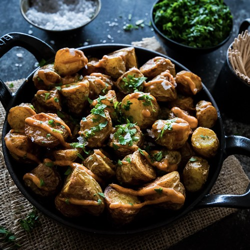 kinda, sorta patatas bravas