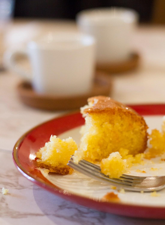 Lemon Polenta Cake Dessert - Rudy's Pizza Manchester