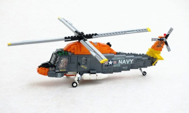 Fly above the blue yonder in this LEGO UH-2A Seasprite   The ...