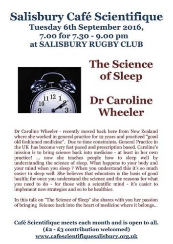 Poster for Dr Caroline Wheeler