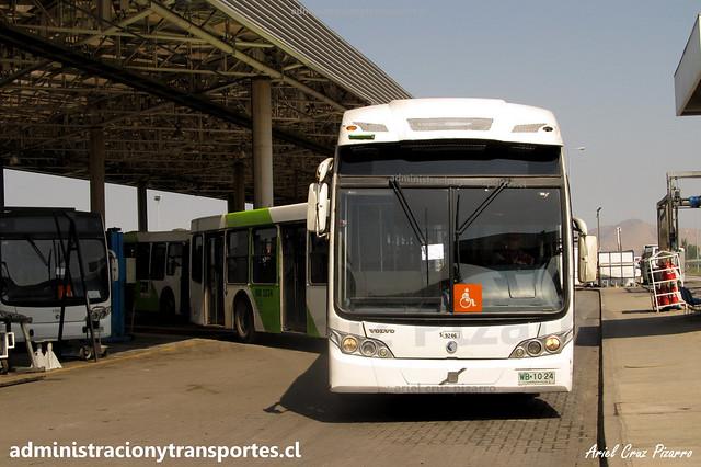 Transantiago FS   Subus   Caio Mondego LA - Volvo / WB1024