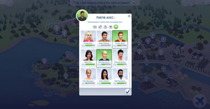 Les Sims 4 Vivre ensemble groupe