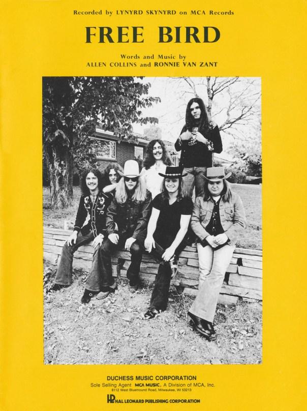 Lynyrd Skynyrd - Free Bird sheet music cover - 1973
