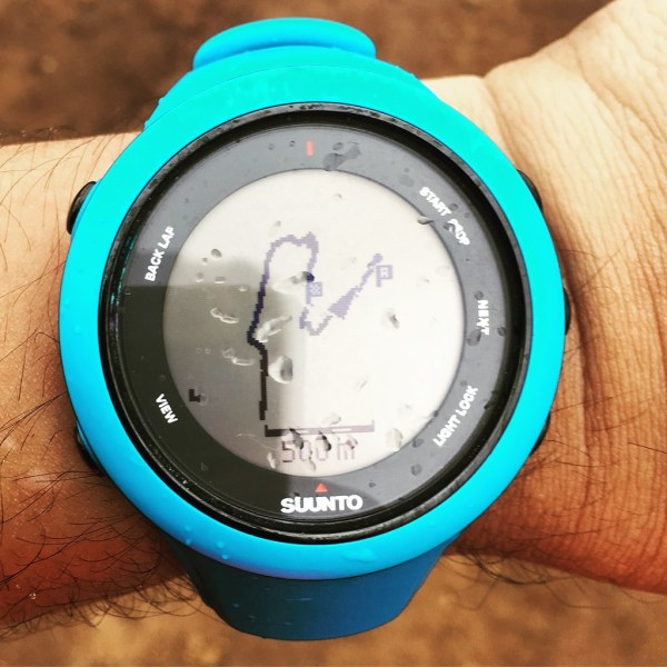 Thanks to Navigation features of Suunto. W found our way back.