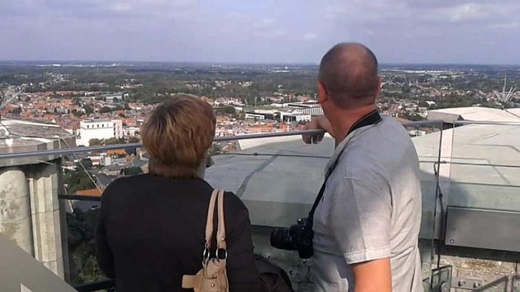 Skywalk uitzichtspunt op Sint-Romboutstoren te Mechelen