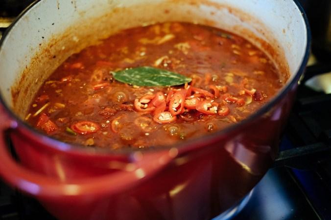 Saus voor de Mexicaanse pulled brisket