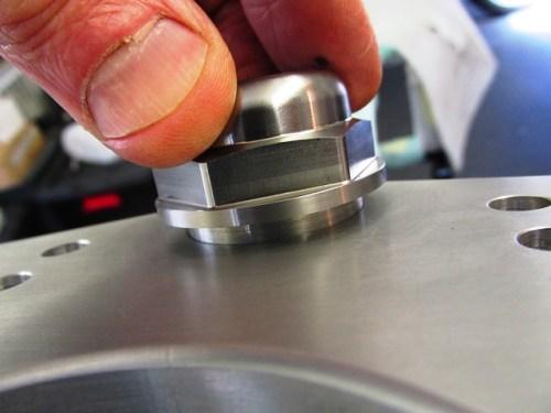 Toaster Tan Steering Stem Nut - Nice Tight Fit in Top Clamp