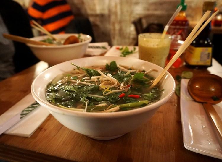 Vietnamese Pho soup from Pho | Gluten free Shoreditch guide | Gluten free London | Brick Lane | Old Street | Spitalfields | Hoxton | East London